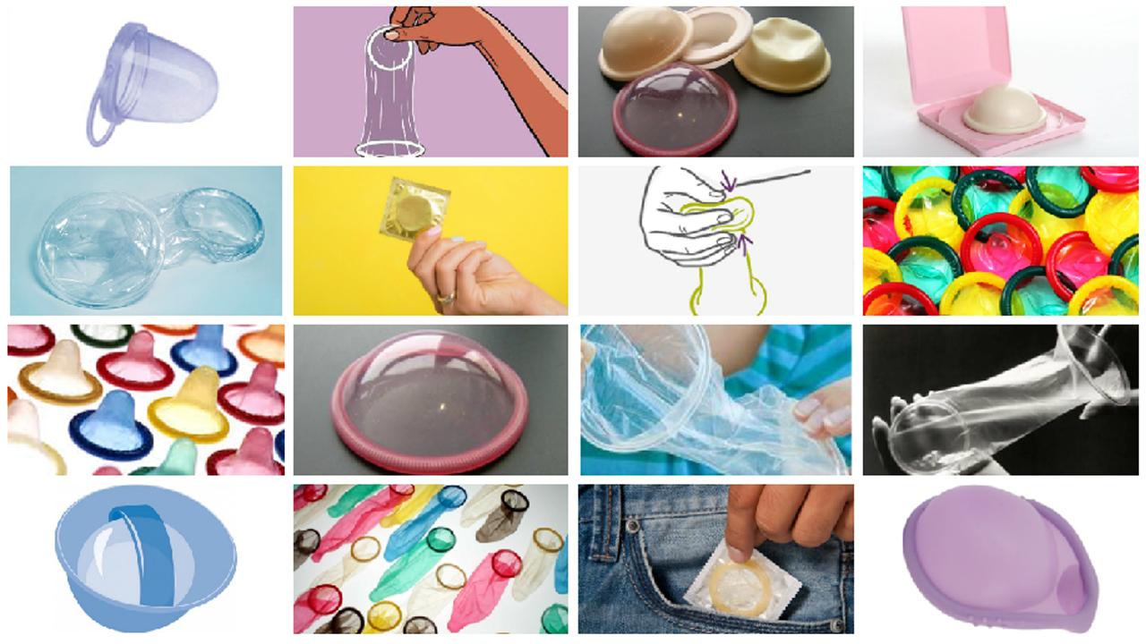 préservatif masculin, préservatif féminin, cape cervicale, diaphragme