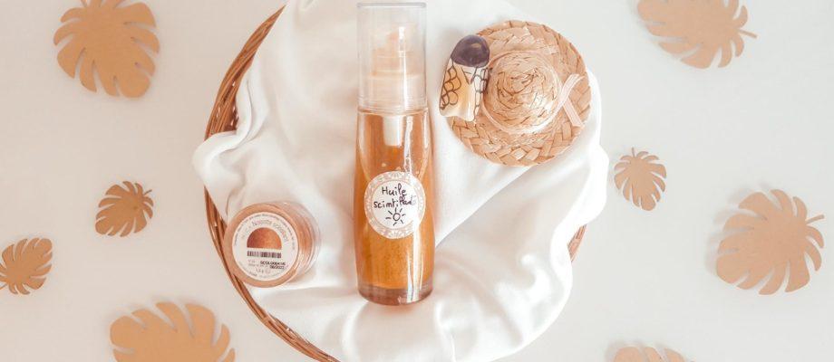 Huile scintillante corps & cheveux à l'huile de buriti