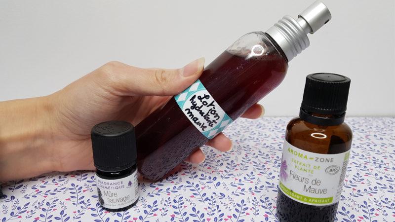 recette de lotion visage mauve et riz hydratation aroma zone