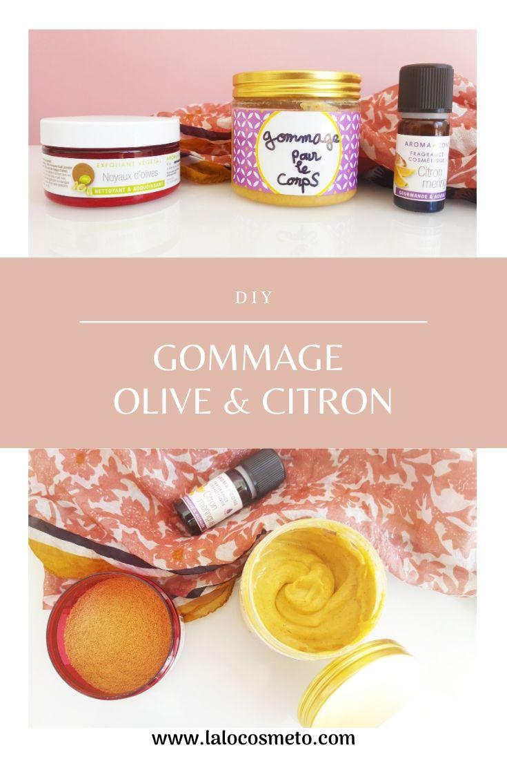 recette gommage diy aux noyaux d'olive
