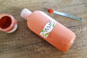 huile de douche à la fraise huile d'olive et alcool cétéarylique