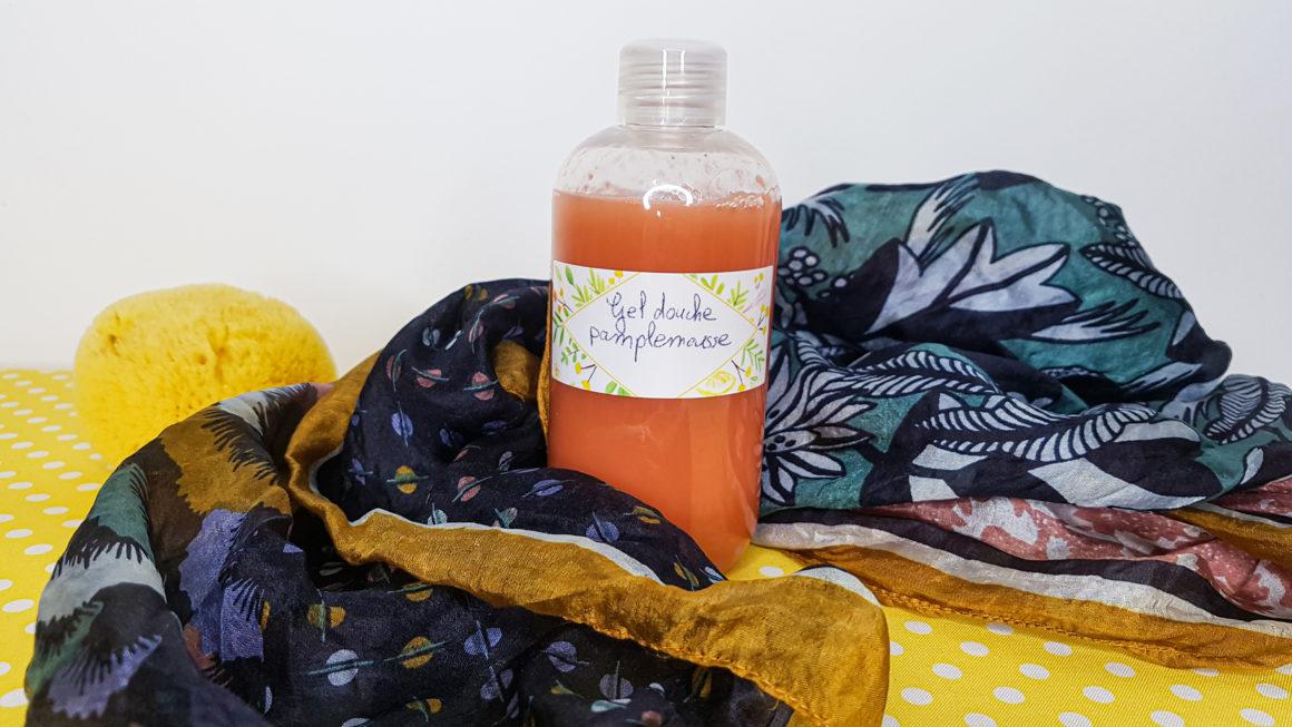 gel douche sans plame tensioactif doux à l'huile essentielle de pamplemousse anti cellulite
