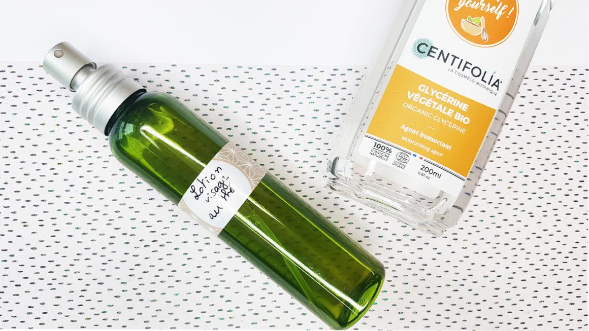 lotion nettoyante visage hydratante au thé vert